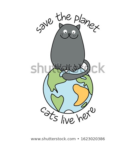 保存 惑星 猫 ライブ ここで 面白い ストックフォト © Zsuskaa