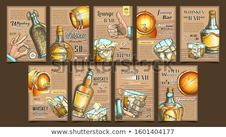 Whiskey salon bar reclame posters ingesteld Stockfoto © pikepicture