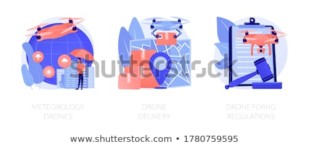 Commercial drone use vector concept metaphors Stock photo © RAStudio