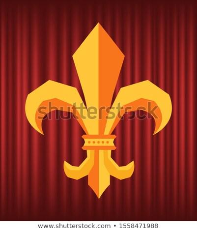 Koninklijk bloem logo gordijn vector symbool Stockfoto © robuart