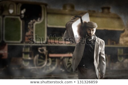 Emigrant to the train station Stock photo © antonio_gravante