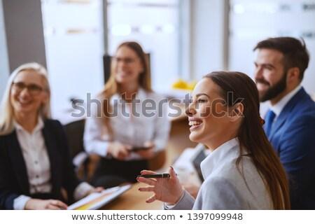 Purposeful businesswoman in office Stock photo © pressmaster