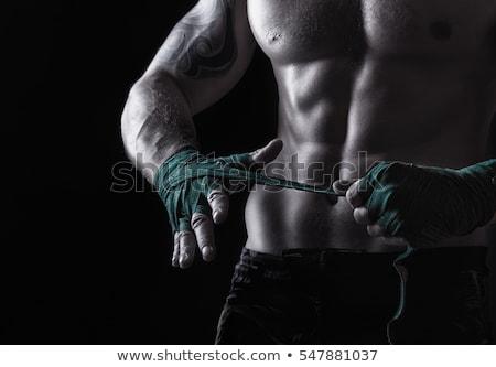 Boxoló harc sport tornaterem siker láb Stock fotó © Jasminko