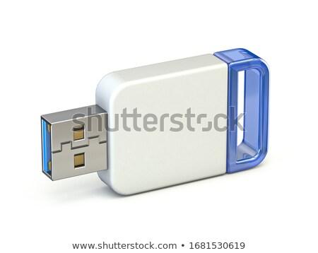 White blue USB stick 3D Stock photo © djmilic