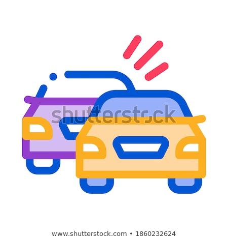 Korábbi autó ikon vektor skicc illusztráció Stock fotó © pikepicture