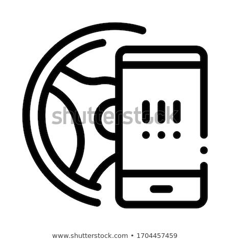 Telefon vezetés ikon vektor skicc illusztráció Stock fotó © pikepicture