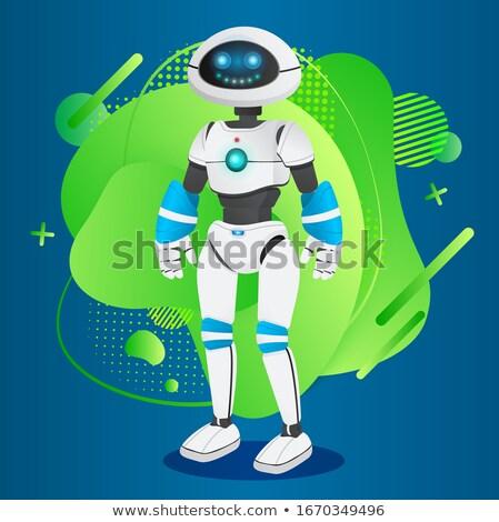 Futuristic Humanoid Manlike Robotic Creature Vector Stock photo © robuart
