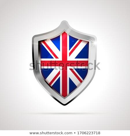 Reino Unido bandeira escudo branco isolado Foto stock © evgeny89