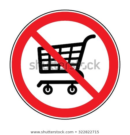 Vásárlás nem megengedett piros tilos felirat Stock fotó © evgeny89