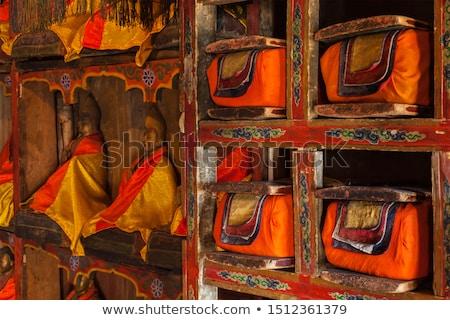 Manuscripts folios in Tibetan Buddhist monastery Stock photo © dmitry_rukhlenko