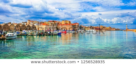 Picturesque old port of Chania, Crete island. Greece Stock photo © dmitry_rukhlenko