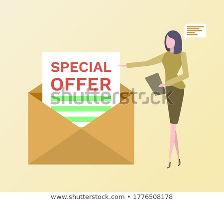 Special Offer Envelope Letter with Proposal Vector Stock photo © robuart