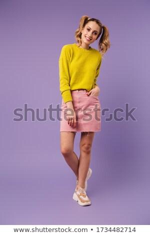 画像 きれいな女性 2 笑みを浮かべて 見える ストックフォト © deandrobot