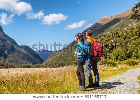 New Zealand wandelaars backpackers track beroemd parcours Stockfoto © Maridav