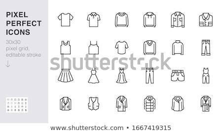 mulher · feminino · roupa · ícones · vetor - foto stock © stoyanh