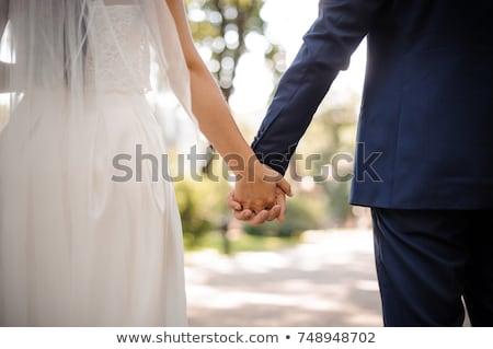 menyasszony · kéz · közelkép · menyasszonyok · kezek · gyönyörű - stock fotó © fotografci
