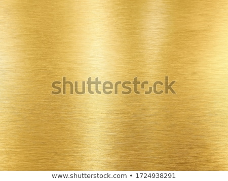 Golden metal plate  Stock photo © homydesign