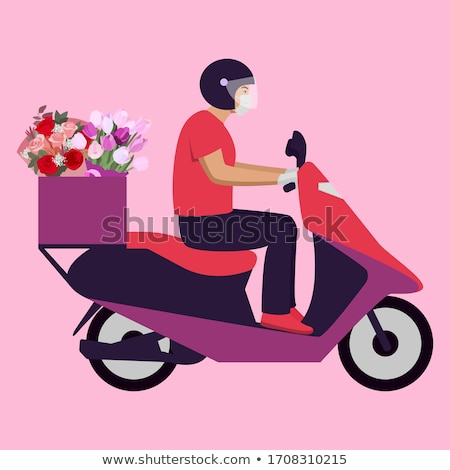 Stock photo: Flower Delivery Man