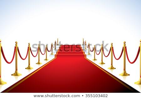 red carpet stairs   stairway to fame stock photo © dacasdo