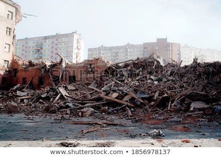 stack of rubble from a demolished house on a construction site Stock photo © Melvin07