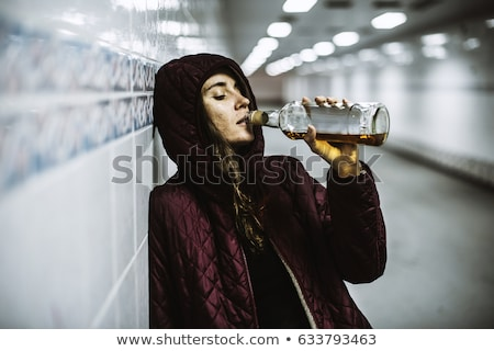 drunk tramp woman Stock photo © smithore