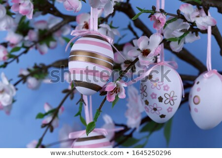 árbol Pascua huevos de Pascua lugar hojas flores Foto stock © Irinavk