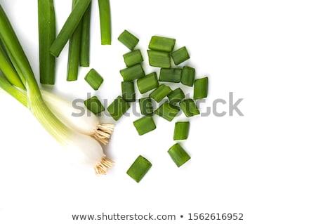 Taze bütün beyaz çanak sebze Stok fotoğraf © fotogal