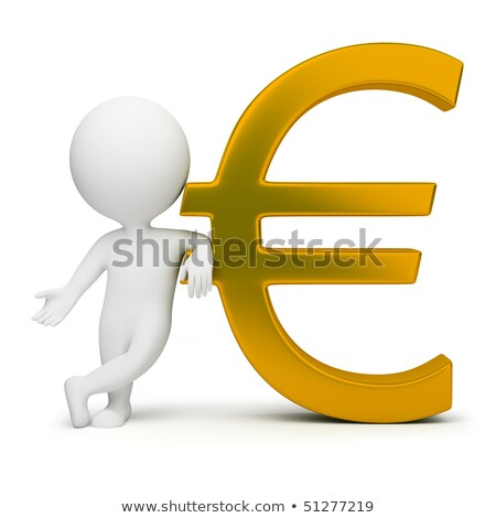 3d small people   euro sign stock photo © anatolym