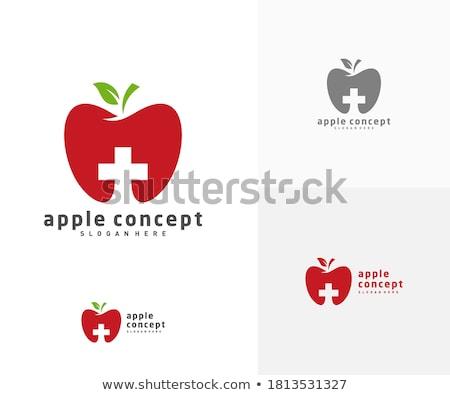 Zöld alma plusz jel tanul Stock fotó © devon