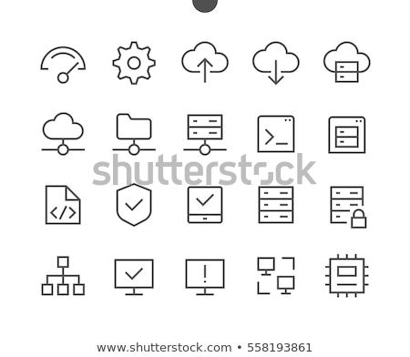 ícones · conjunto · um · virtual · nuvem - foto stock © fenton