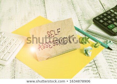 notepaper, photo and keyboard Stock photo © devon