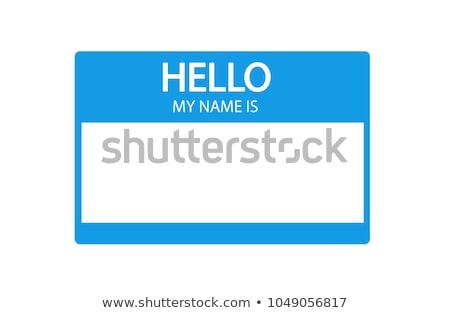 Blue Nametag Stock photo © mybaitshop