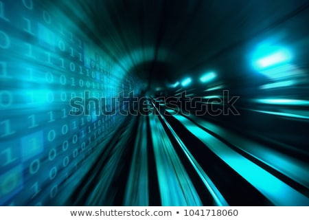 binary code data flow communication stock photo © artida