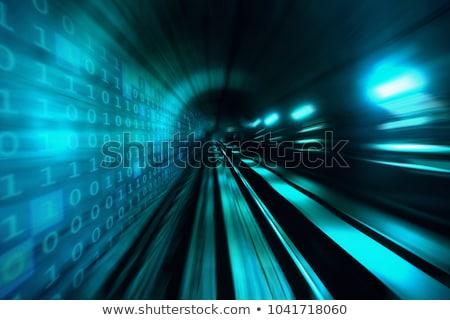 Stock photo: binary code data flow, communication