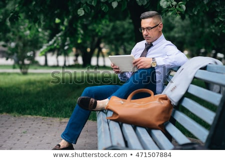 Man working out in park Stock photo © photography33