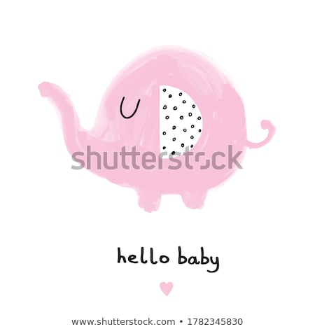 roze · olifant · cute · dier · glimlachend · cartoon - stockfoto © loopall