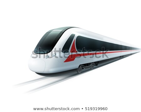 white super streamlined train Stock photo © ssuaphoto