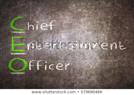 siglas · CEO · jefe · entretenimiento · oficial · escrito - foto stock © bbbar