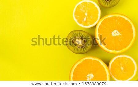 Vruchten citroen kiwi mandarijn oranje Stockfoto © REDPIXEL