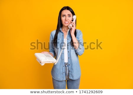 unhappy attractive brunet woman Stock photo © marylooo