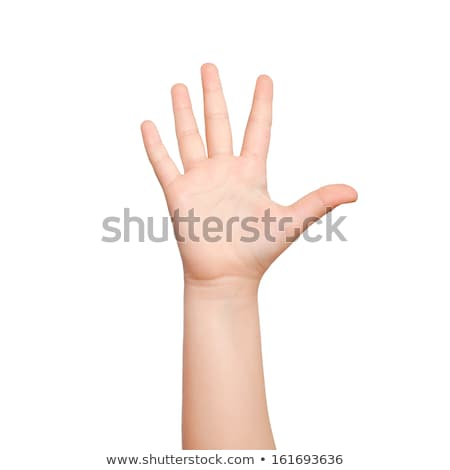 Children hand holding the number Five stock photo © deyangeorgiev