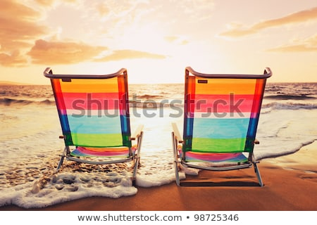 çift oturmak kum okyanus yan Stok fotoğraf © Sportlibrary
