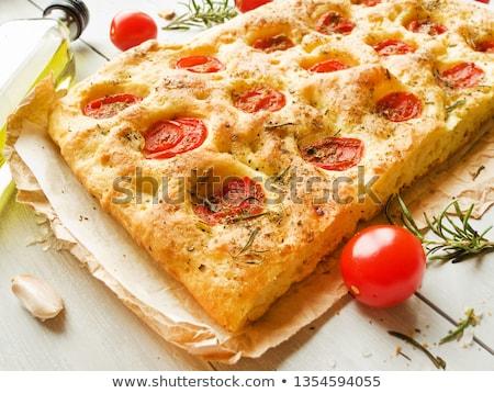 Oregano Garlic And Red Cherry Tomato Stockfoto © AGfoto