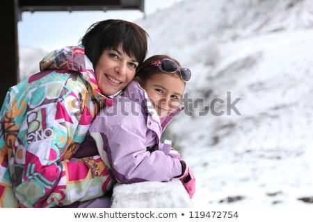 portre · mutlu · genç · kadın · kayakçı · kadın - stok fotoğraf © photography33