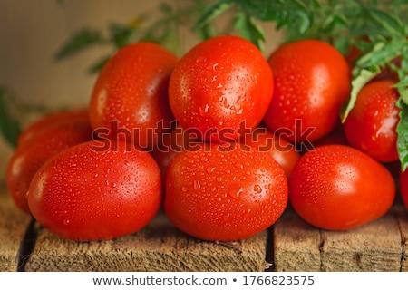 Рома помидоров деревянный стол продовольствие цвета Сток-фото © zkruger