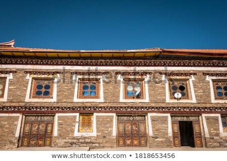 Typical Tibetan building Stock photo © bbbar