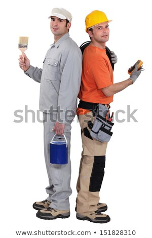 Tradesmen standing back to back Stock photo © photography33