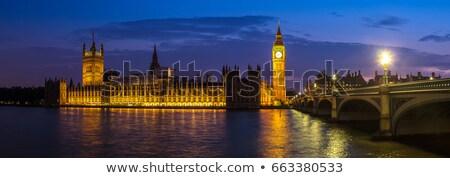 Big · Ben · casa · parlamento · pôr · do · sol · rio - foto stock © vividrange