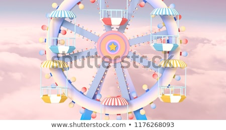 Ferris wheel against blue sky Stock photo © bbbar