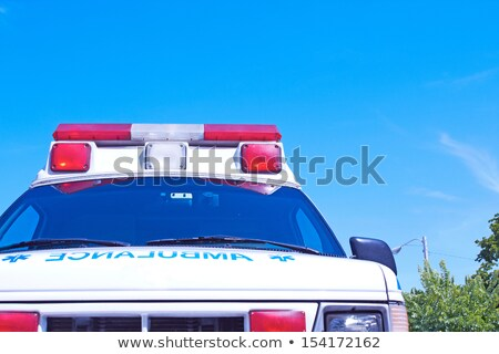 ambulance van blue star stock photo © lkeskinen